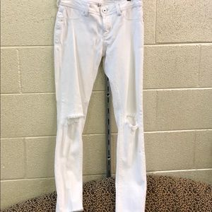 DL 1962 white skinny distressed jean